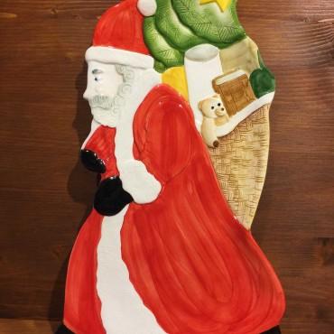 Piatto Babbo Natale con doni
