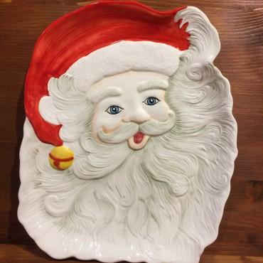 Piatto Babbo Natale viso