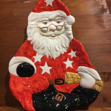 Piatto Babbo Natale seduto