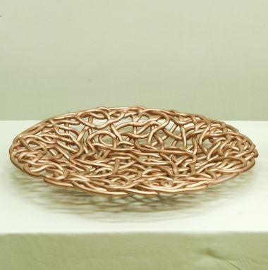 Vaso intreccio corda decorato rame - Garda Ceramiche