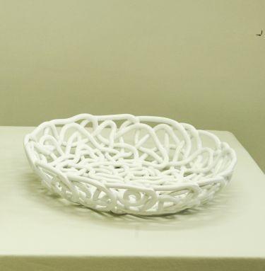 Vaso intreccio corda bianco - Garda Ceramiche