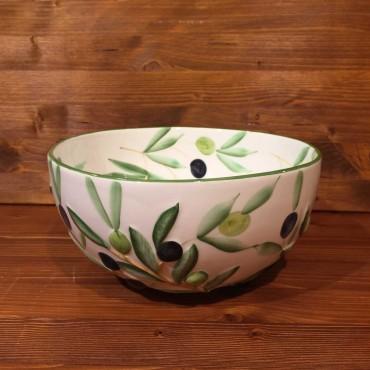 Ciotola sfera interno dipinto esterno rilievo Olive