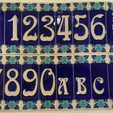 Numeri Civici H 15 CM Fluorescenti