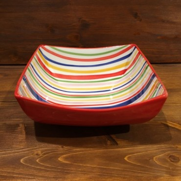 Small Bowl Nevi Line Red-Yellow-Blue-Grün