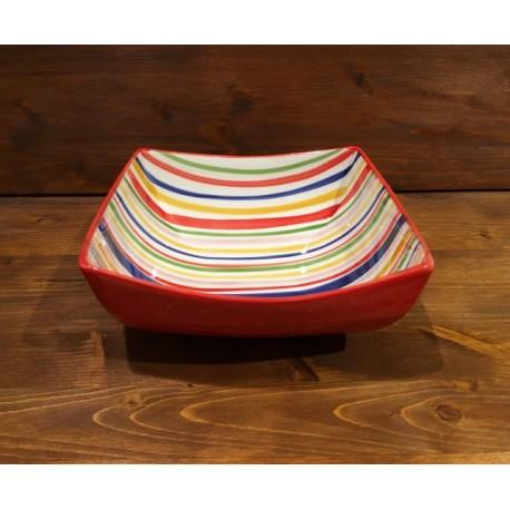 Small Bowl Nevi Line Red-Yellow-Blue-Grün