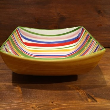 Bowl Nevi Line Red-Yellow-Blue-Green