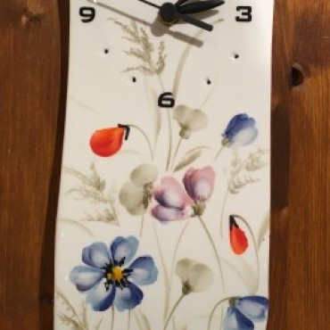 Wall Clock Star Flowers