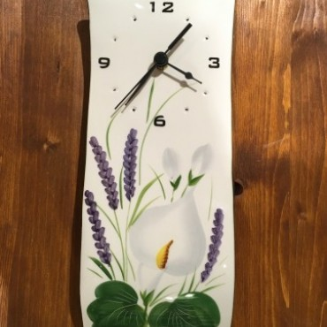 Wall Clock Calla and Lavender