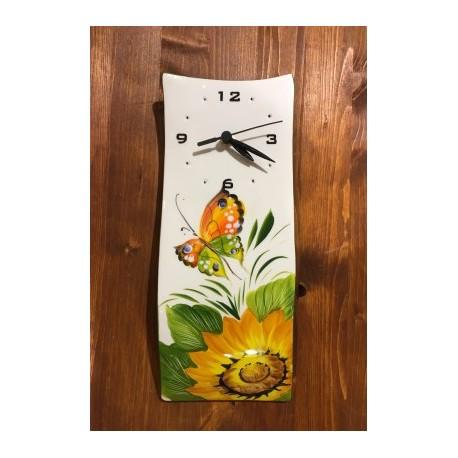 Orologio Muro Girasole e Farfalla