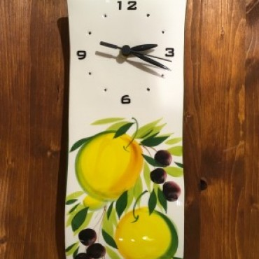 Wall Clock Lemon and Olive