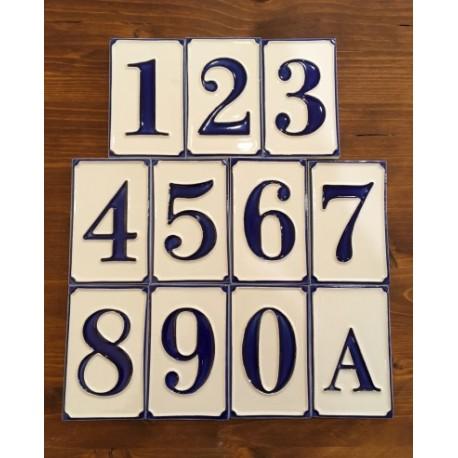 Numeri Civici In Ceramica.Numeri Civici H 11 Cm Garda Ceramiche