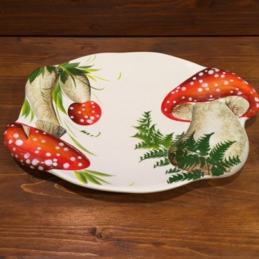 Mushrooms Tray Red