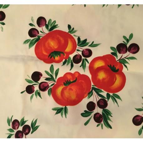 Tovaglia in Cotone Pomodori e Olive