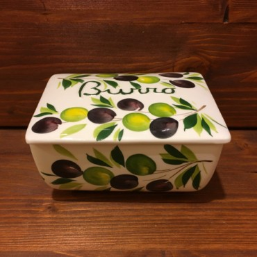 Butter dish Olive
