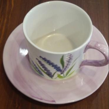 Cappuccino or Tea Mug Cup Lavanda Set