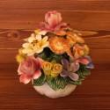 Runde Korb mit gemischten Blumen