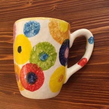 Tasse Mug Cappuccino Tè Farbige Kreise