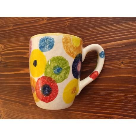 Tazza Mug Caffè Cappuccino Tè Cerchi Rustici