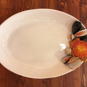 Eiförmig Tablett Krabbe