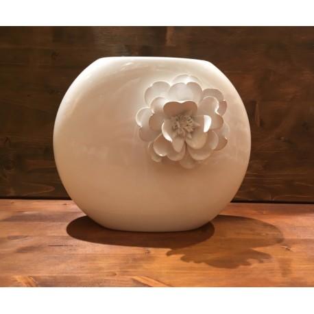 Kanu Vase mit Blume