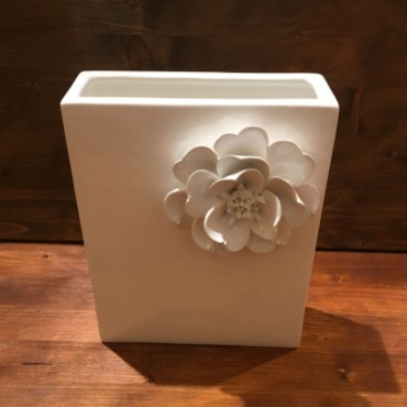 Vase with flower Rectangular