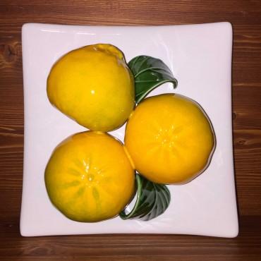 Matonella da appendere mandarini, fondo bianco