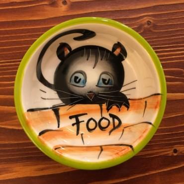 Lebensmittel Katze Schüssel