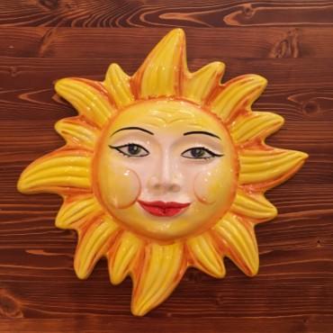 Gelbe Strahlen der Sonne