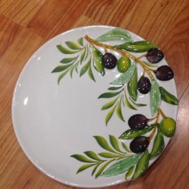 Round Plate Ø 22 CM Olives