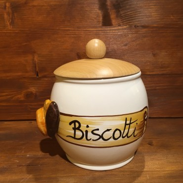 Barattolo Biscotti tappo legno