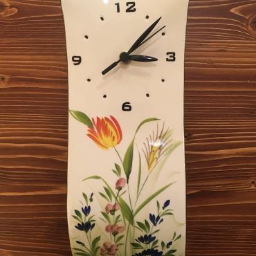Wall Clock Star Flowers