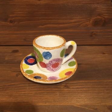 Kaffeetasse Espresso Farbige Kreise