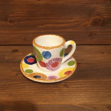 Espresso Cup with Colored Circles