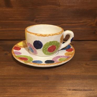 Tazza Cappuccino Tè con piattino Cerchi Rustici