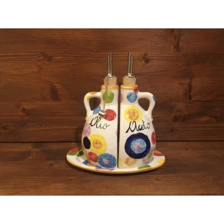 Essigöl-Set mit Griffen Farbige Kreise