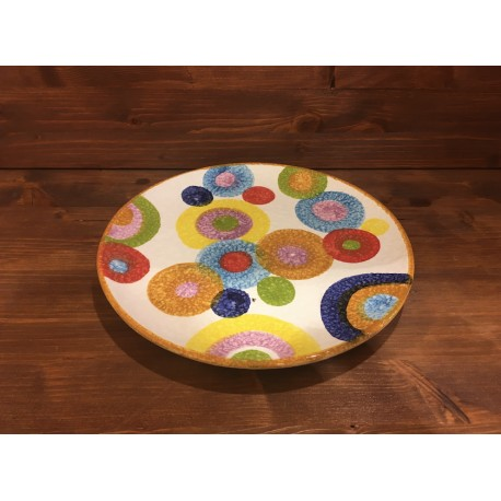 Round Plate colored circles