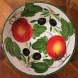 Ciotola tonda decoro interno Pomodori Olive esterno fascia verde