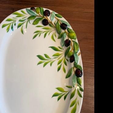 Set Plate 8 Pz Olive