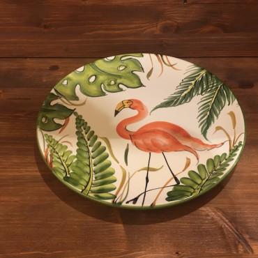Runde Teller Flamingo