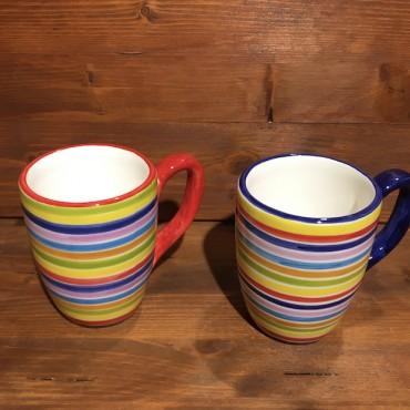Tazza Mug Caffè Cappuccino Tè Righe