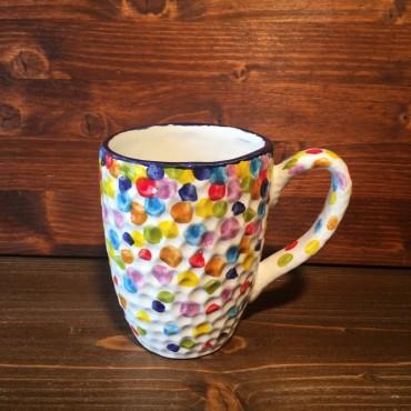 Tazza Mug Caffè Cappuccino Tè Coriandoli Colorati
