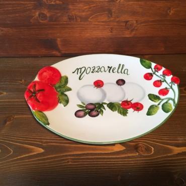 Piatto ovale Mozzarella G.