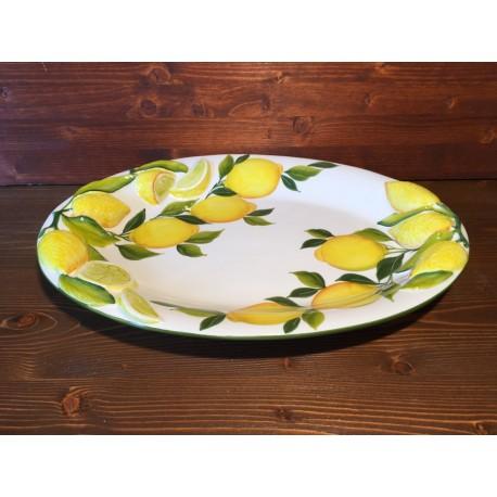 Vassoio Ovale limoni rilievo