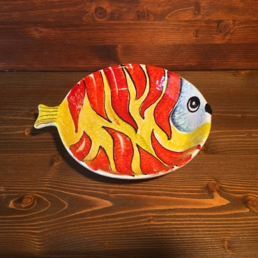 Round Plate Flame Fish