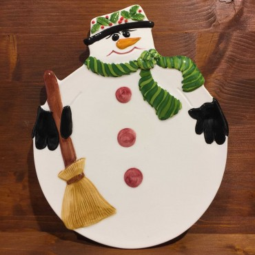 Piatto Panettone pupazzo di neve