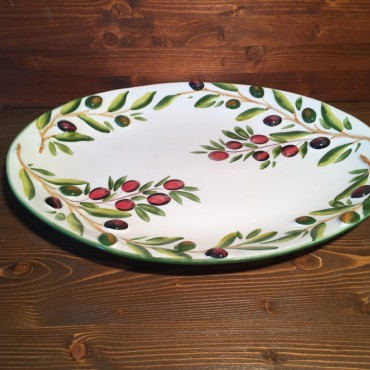Oval Olive relief tray