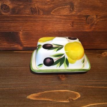 Butterhalter Zitronen und Oliven