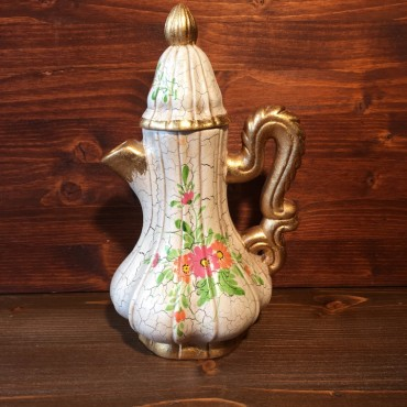 Venetian Lacquered Flowers Pitcher-Carafe