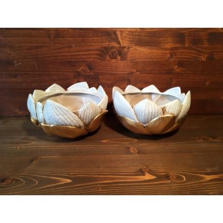 2 Petal Vases in Venetian Lacquer