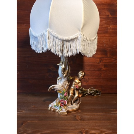Angel lamp with flowers